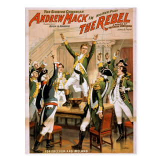 The Rebel For freedom and ireland Retro Theater Post Card