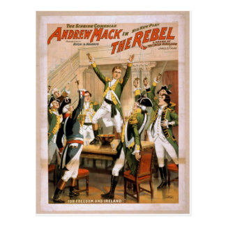 The Rebel For freedom and ireland Retro Theater Postcards