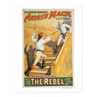 """The Rebel"" Irish Rebellion Drama - Fencing Postcard"