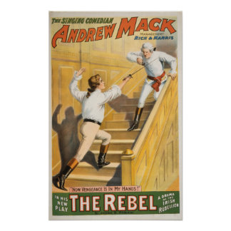 """The Rebel"" Irish Rebellion Drama - Fencing Poster"