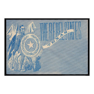 The Rebel States - Texas Poster