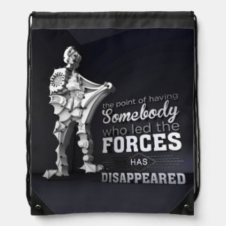 The rebel within drawstring backpack