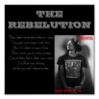 The Rebelution Lyric Poster: Small