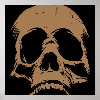 The Rebirth Skull Head Art Remix Cool Print Poster