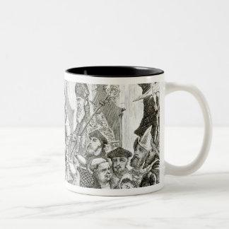 The Recantation of Archbishop Cranmer Two-Tone Coffee Mug