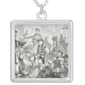 The Recantation of Archbishop Cranmer Silver Plated Necklace