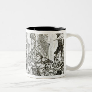 The Recantation of Archbishop Cranmer Two-Tone Coffee Mug