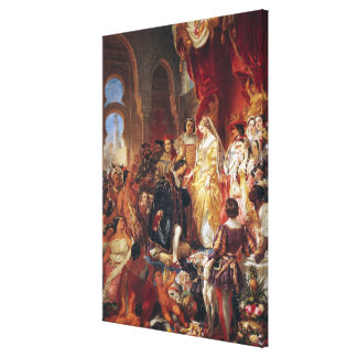 The Reception of Christopher Columbus Canvas Print