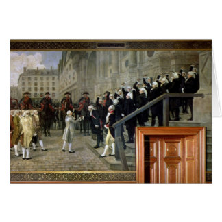 The Reception of Louis XVI at the Hotel de Ville b Card