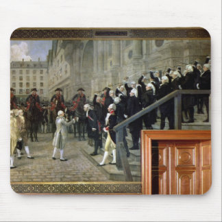 The Reception of Louis XVI at the Hotel de Ville b Mouse Pad