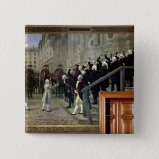 The Reception of Louis XVI at the Hotel de Ville b Pinback Button