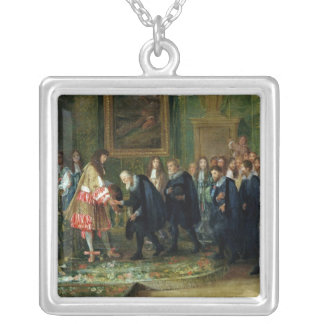 The Reception of the Ambassadors Square Pendant Necklace