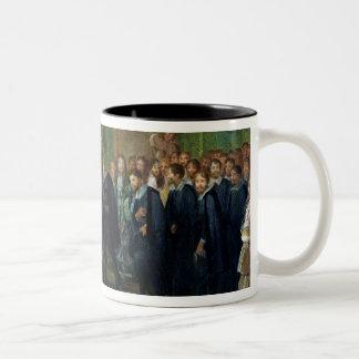 The Reception of the Ambassadors Two-Tone Coffee Mug