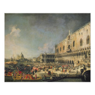 The Reception of the French Ambassador in Venice, Poster