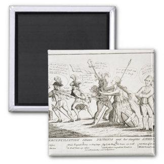 The Reconciliation Between Britannia America 2 Inch Square Magnet