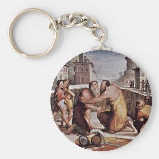 The Reconciliation Of Emilius Leidus With Flavius Basic Round Button Keychain