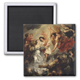 The Reconciliation of Marie de Medici and her 2 Inch Square Magnet