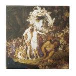 The Reconciliation Of Oberon And Titania,1847 Ceramic Tile