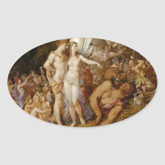 The Reconciliation of Oberon and Titania Oval Sticker
