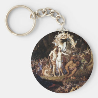 The Reconciliation of Titania and Oberon Basic Round Button Keychain