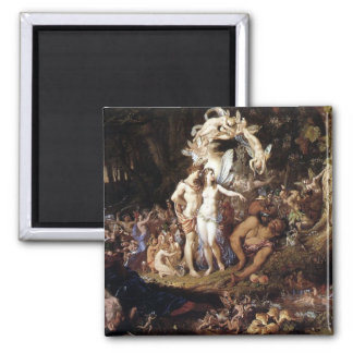 The Reconciliation of Titania and Oberon 2 Inch Square Magnet