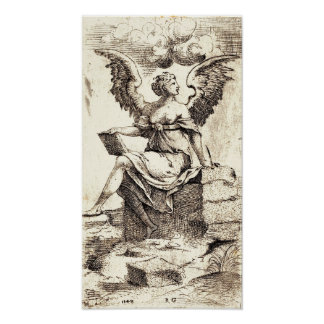 """The Recording Angel"" 1542 Master RG etching Posters"