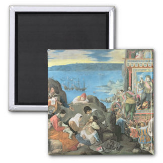 The Recovery of the Bay of San Salvador 2 Inch Square Magnet