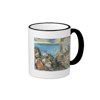 The Recovery of the Bay of San Salvador Ringer Coffee Mug
