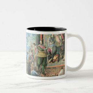 The Recovery of the Bay of San Salvador Two-Tone Coffee Mug