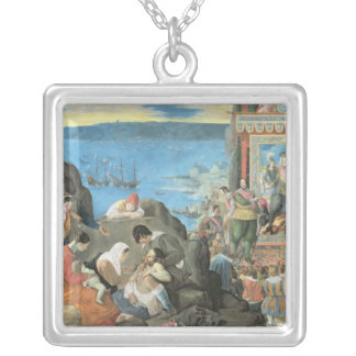 The Recovery of the Bay of San Salvador Silver Plated Necklace
