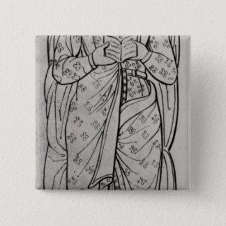 The Recumbant Eleanor of Aquitaine Pinback Button