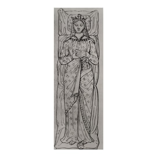 The Recumbant Eleanor of Aquitaine Poster