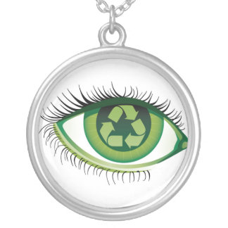The Recycle Eye Silver Plated Necklace