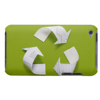 The recycling mark made from the data of paper iPod touch case