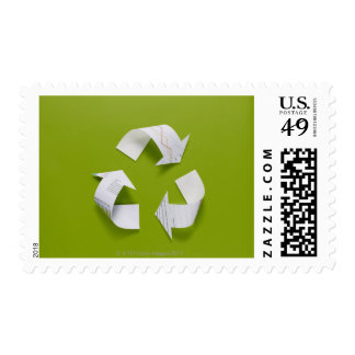 The recycling mark made from the data of paper postage