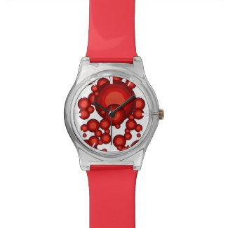 The Red 70's year styling Wrist Watch