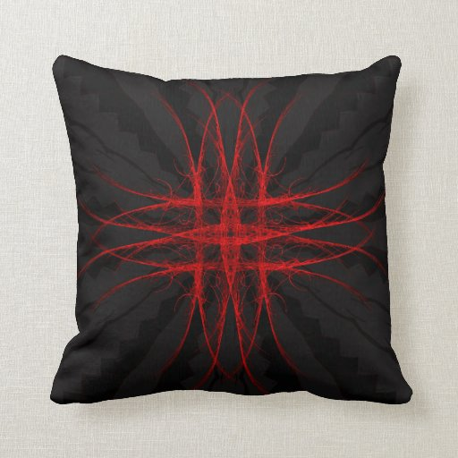 """""""The Red""""  -Abstract Geometric Art Pillows"""