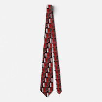 The red accordion neck tie