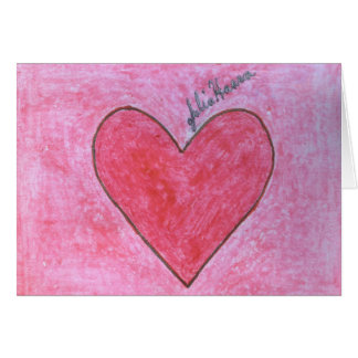 The Red And Pink Valentine Heart By Julia Hanna Card