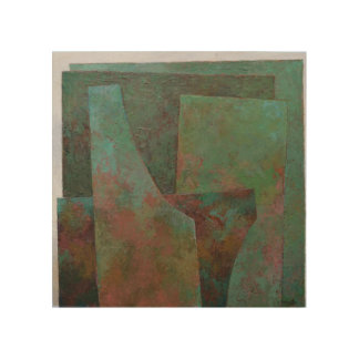 The Red and The Green Wood Wall Art