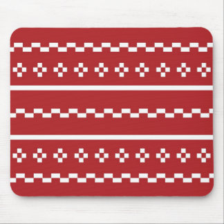 The Red and White Christmas Sweater Mouse Pad