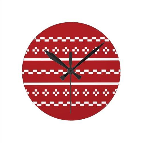 Christmas Sweater Round Clocks