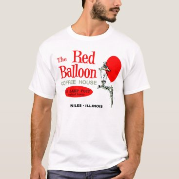 Coffee Themed The Red Balloon Coffee House, Niles, Illinois T-Shirt