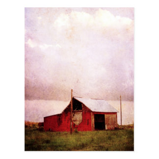 The Red Barn at Sunset Postcard