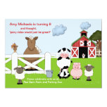 "The Red Barn Birthday Party Invitation 5"" X 7"" Invitation Card"