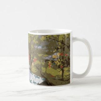 The Red Barn House Bridge Classic White Coffee Mug