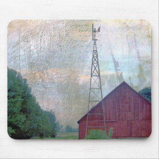 The Red Barn Mouse Pad