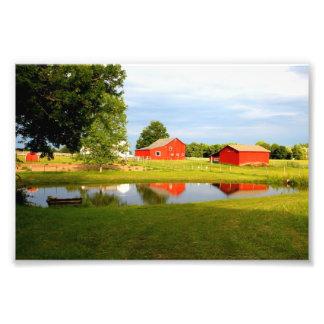 The Red Barn (Print) Art Photo