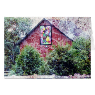 The Red Barn With A Quilt Card