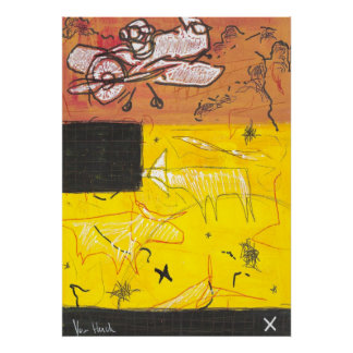 the red baron at lascaux poster